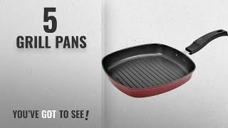 Top 10 Grill Pans [2018]: Tosaa Square Grill Pan, 225cm, Black/Red