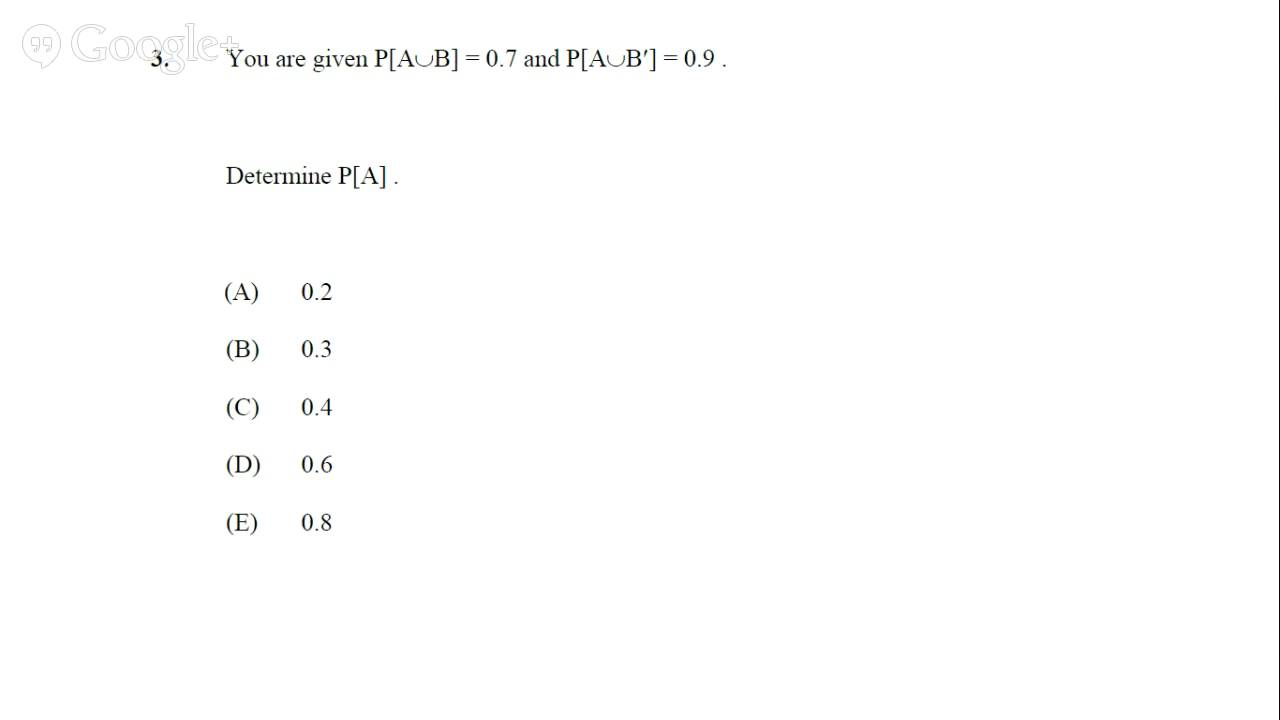 Soa/cas exam p sample solutions the online test page.