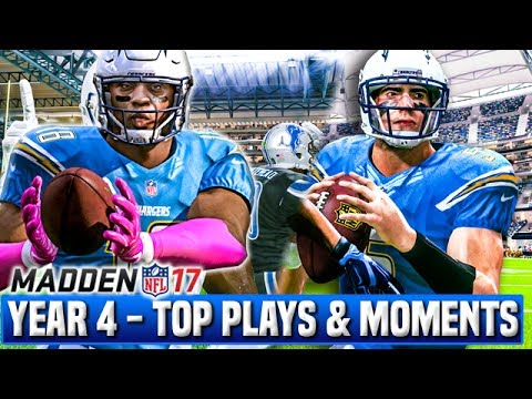 TOP PLAYS AND MOMENTS OF YEAR 4!  | Madden 17 Chargers Franchise | Ep.96