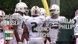 BEST Defensive End Trio in the Country?! Gregory Rousseau, Jaelan Phillips, and Quincy Roche