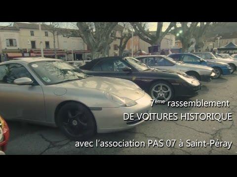 7ème rassemblement de voiture historique avec l'association PAS 07 à St Peray