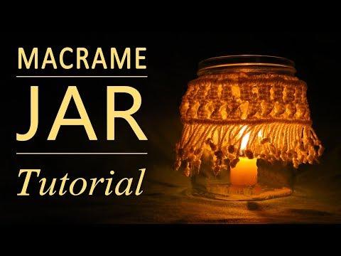 DIY Simple Macrame Jar Cover – howto / diy (easy)