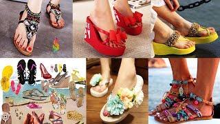 Модная пляжная обувь 2018 фото Как быть стильной летом 2018 Женские босоножки, вьетнамки, тапочки