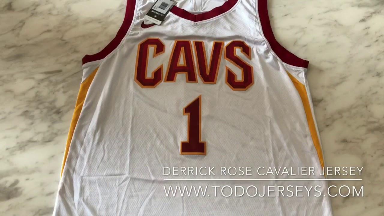 c16607b398e6 2017 nba Cleveland cavaliers  1 derrick rose icon edition jerseys ...