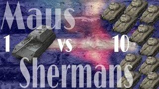 WoT Blitz // #versus // Maus -vs- 10 M4 SHERMANS