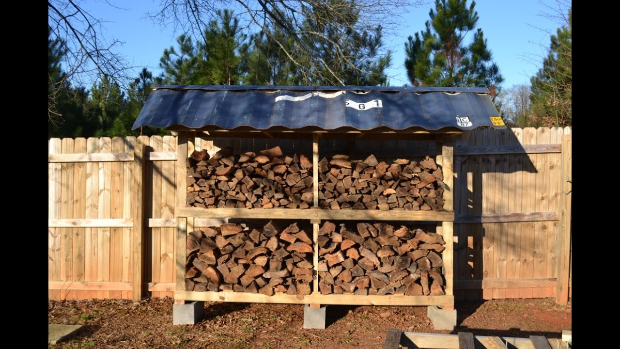Firewood Storage From Pallets Youtube
