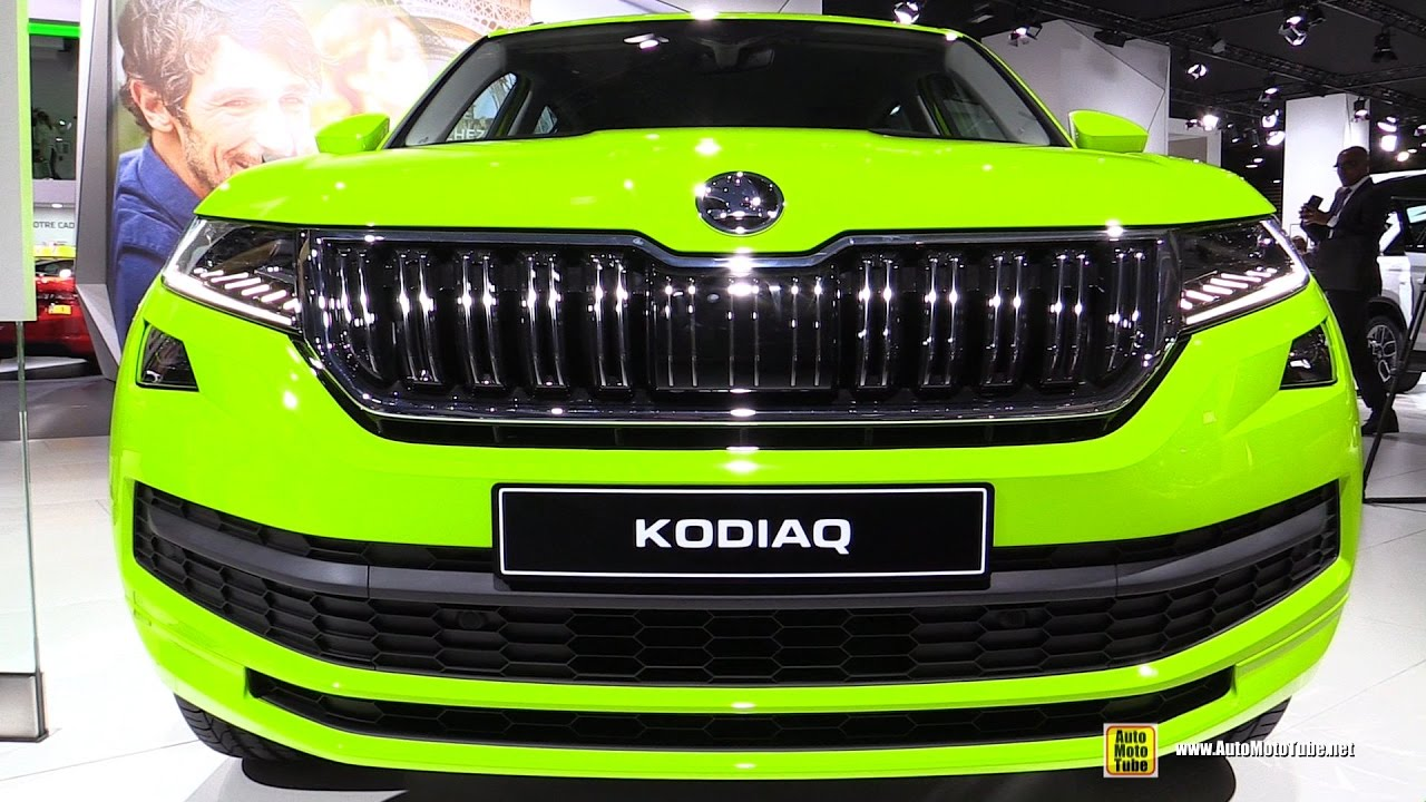 2017 skoda kodiaq 4x4 exetrior and interior walkaroud debut at 2016 paris motor show youtube. Black Bedroom Furniture Sets. Home Design Ideas