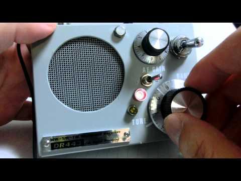 Listening shortwave broadcasts using homemade receiver