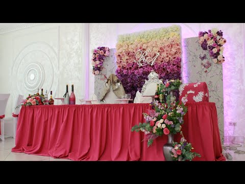 Интересное оформление банкетного зала в розовых тонах на свадьбу 20.07.2019 г.