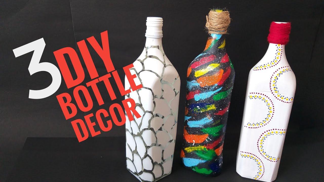 Diy Bottle Decoration Ideas Galaxy On Bottle Diy Bottle Craft Easy Home Decor Using Bottle Youtube