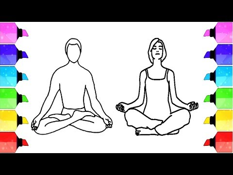 Yoga Drawing How To Yoga Meditation Drawing Yoga Drawing Images Drawing Extra Youtube
