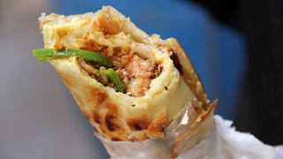 Best Indian Street Food Rolls at Kusum Rolls in Kolkata, India