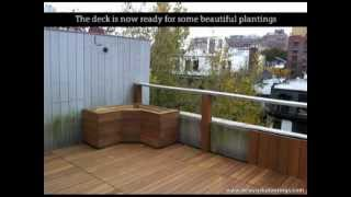 New York Plantings' Roof Deck Renovation Using Ipe Hardwood In Chelsea, Manhattan, New York