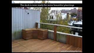 New York Plantings' Roof Deck Renovation Using Ipe Hardwood In Chelsea, Manhattan, New York