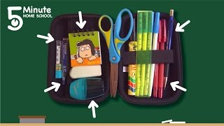 How To Organise Your Pencil Case (5 Minute Home School)