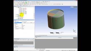 Видеоурок CADFEM VL1209 - Определение собственных частот резервуара с жидкостью в ANSYS Mechanical