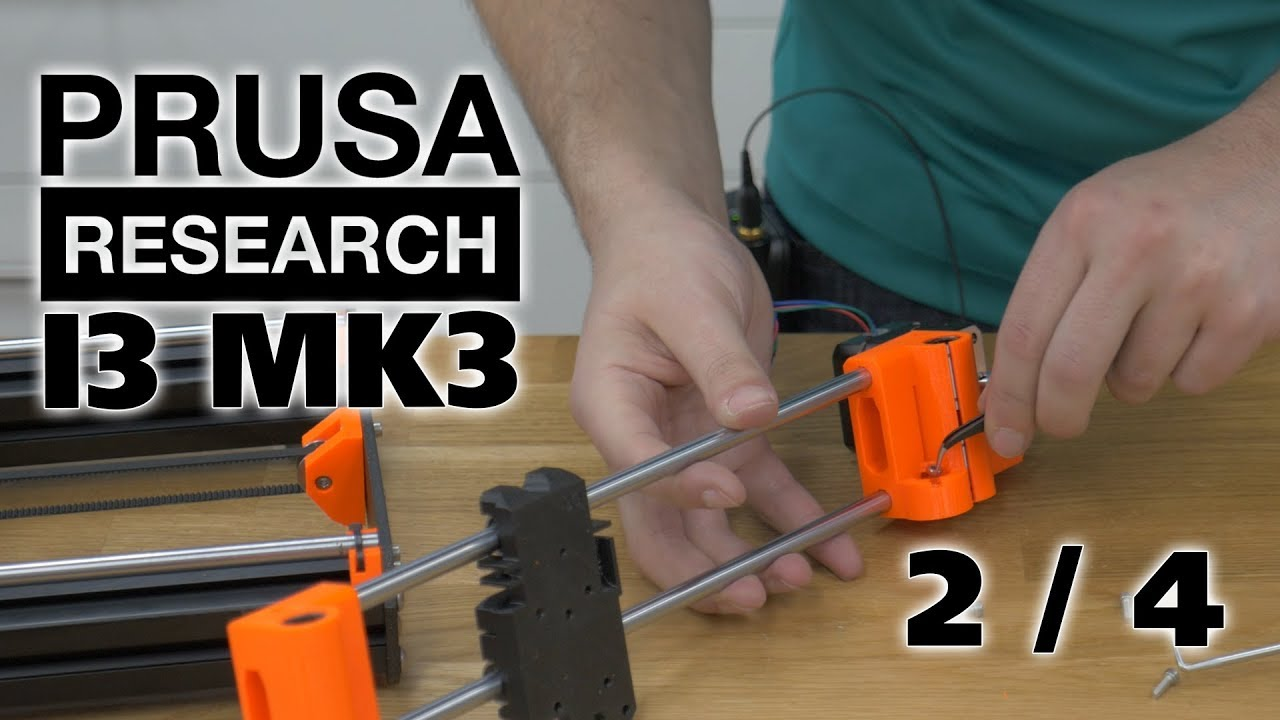 Prusa MK3 Full Assembly - X-axis and Z-Axis (Timestamps in Description)