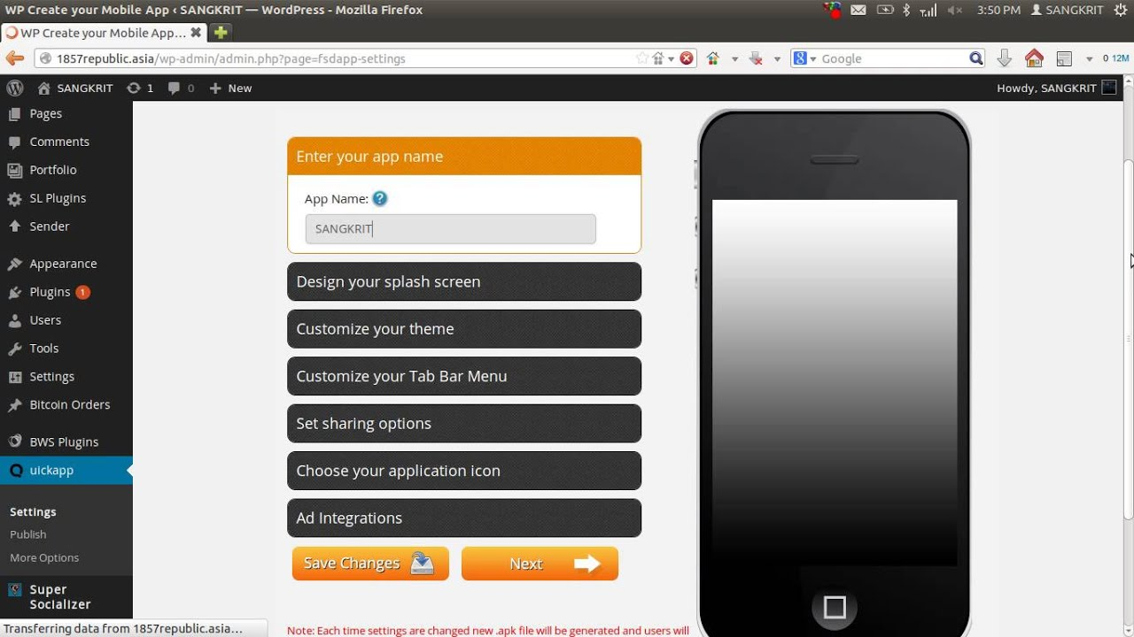 Converting Your WordPress Site Into HTML5 Smartphone App In One ...
