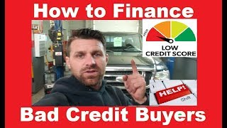 Car Dealer Trick - How to Finance someone with Bad Credit