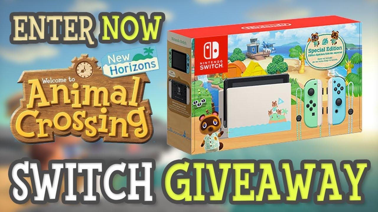 Giveaway Animal Crossing New Horizons Nintendo Switch Bundle Win