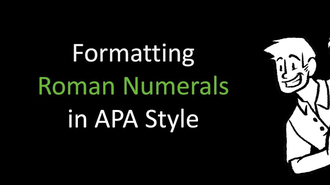formatting in apa