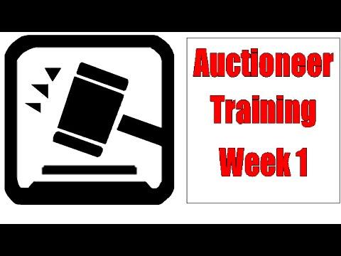 Auctioneer Training Dills for Beginners - Week 1