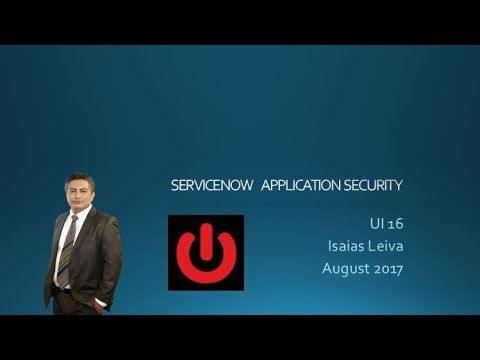 ServiceNow Application Security