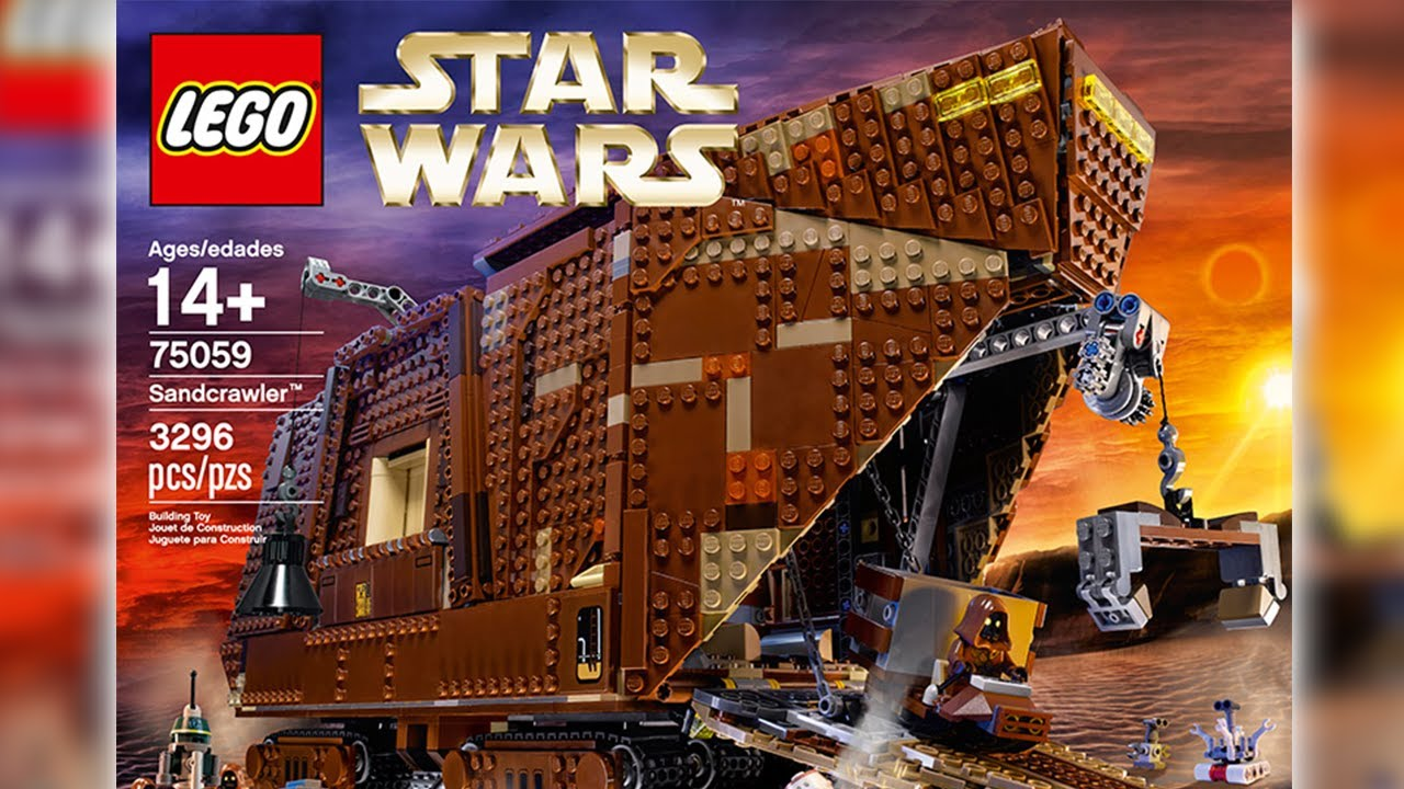 Lego star wars 75059 sandcrawler official images youtube - Croiseur interstellaire star wars lego ...