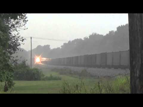Norfolk Southern Trains in Lightning Thunderstorms!!