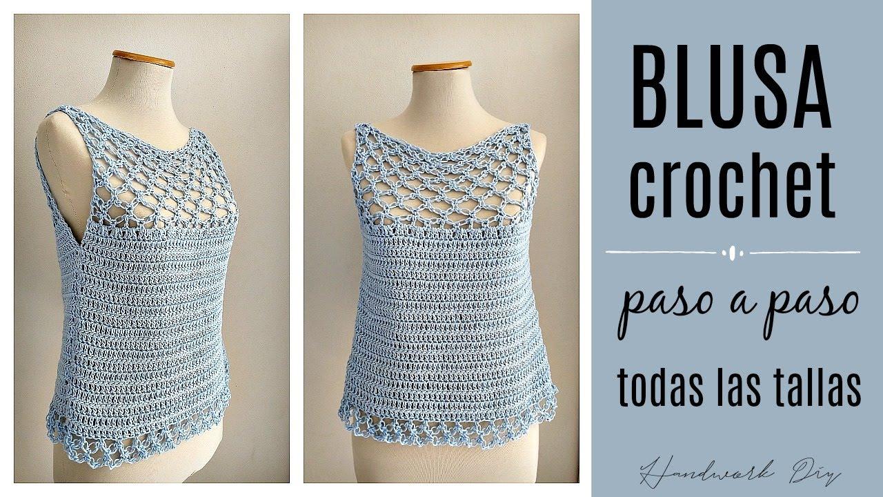 Cómo Tejer Blusa A Crochet En Todas Las Tallas Nudo Salomón Handwork Diy Youtube