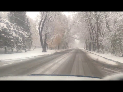 First Snow Storm in Autumn 2015 in Southeastern Michigan