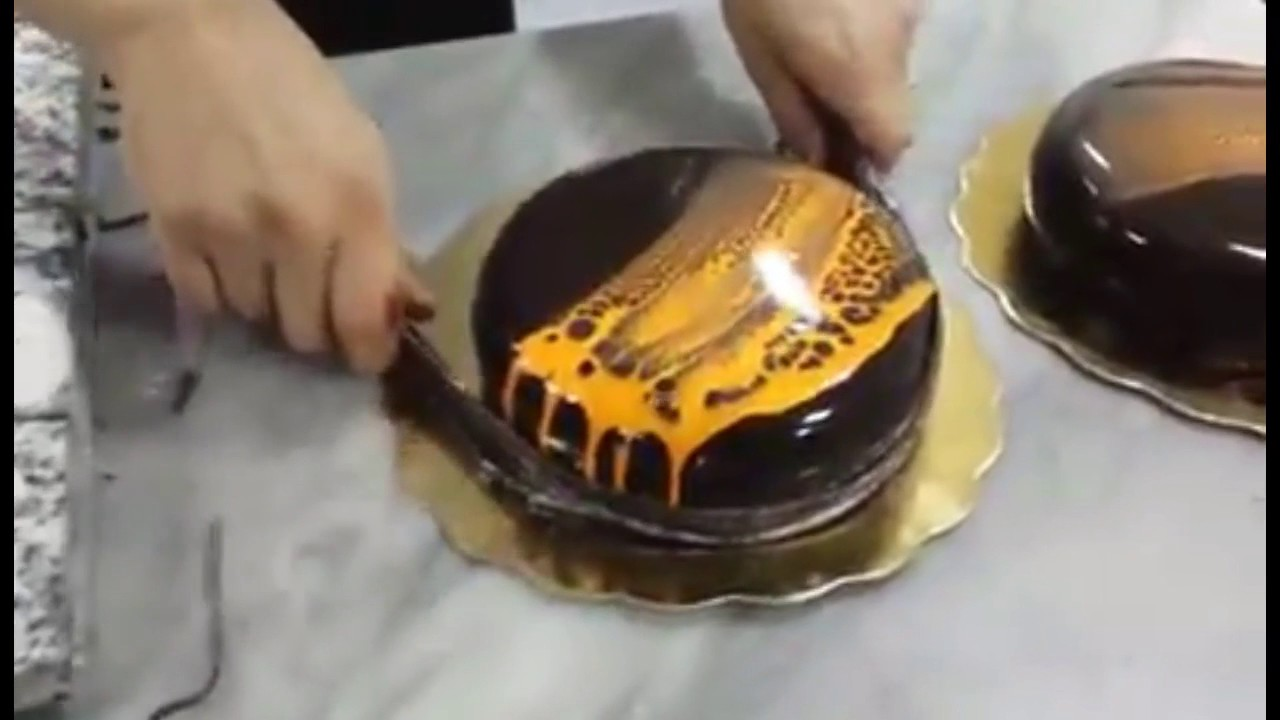 Decoration Entremet Avec Glacage Spider Youtube