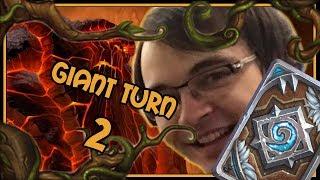 Turn 2 Molten Giants!   Giant paladin   Rastakhan's Rumble   Hearthstone