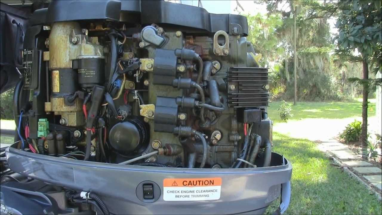 Yamaha F50 TLR Outboard Engine Maintenance  YouTube