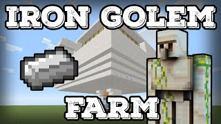 Minecraft Tutorial - Iron Golem Farm - Infinite Iron(Minecraft 1.11+)