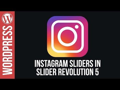 How To Create Instagram Sliders for WordPress in Slider Revolution 5 - 동영상