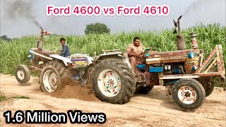 Tractor tochan Ford 4610 vs Ford 4600 with out driver