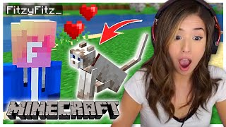 I found MY CAT in Minecraft! Fitz and Pokimane Part 4!