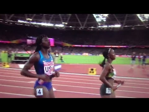 USA wins 4x100m Relay Women Final IAAF World Champs London 2017