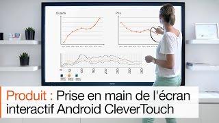 Présentation de l'ecran tactile Android CleverTouch : les gestes qui sauvent