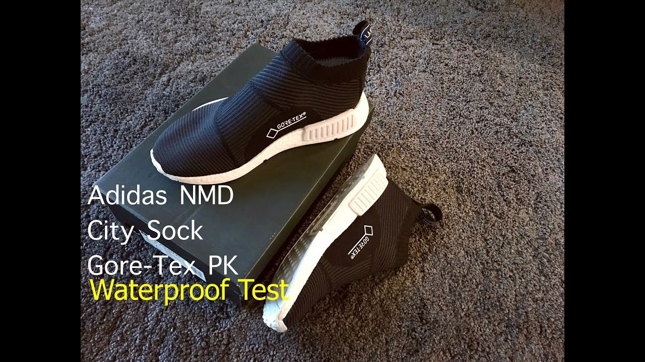 6aef56154 Adidas NMD City Sock Gore Tex Waterproof Test - YouTube