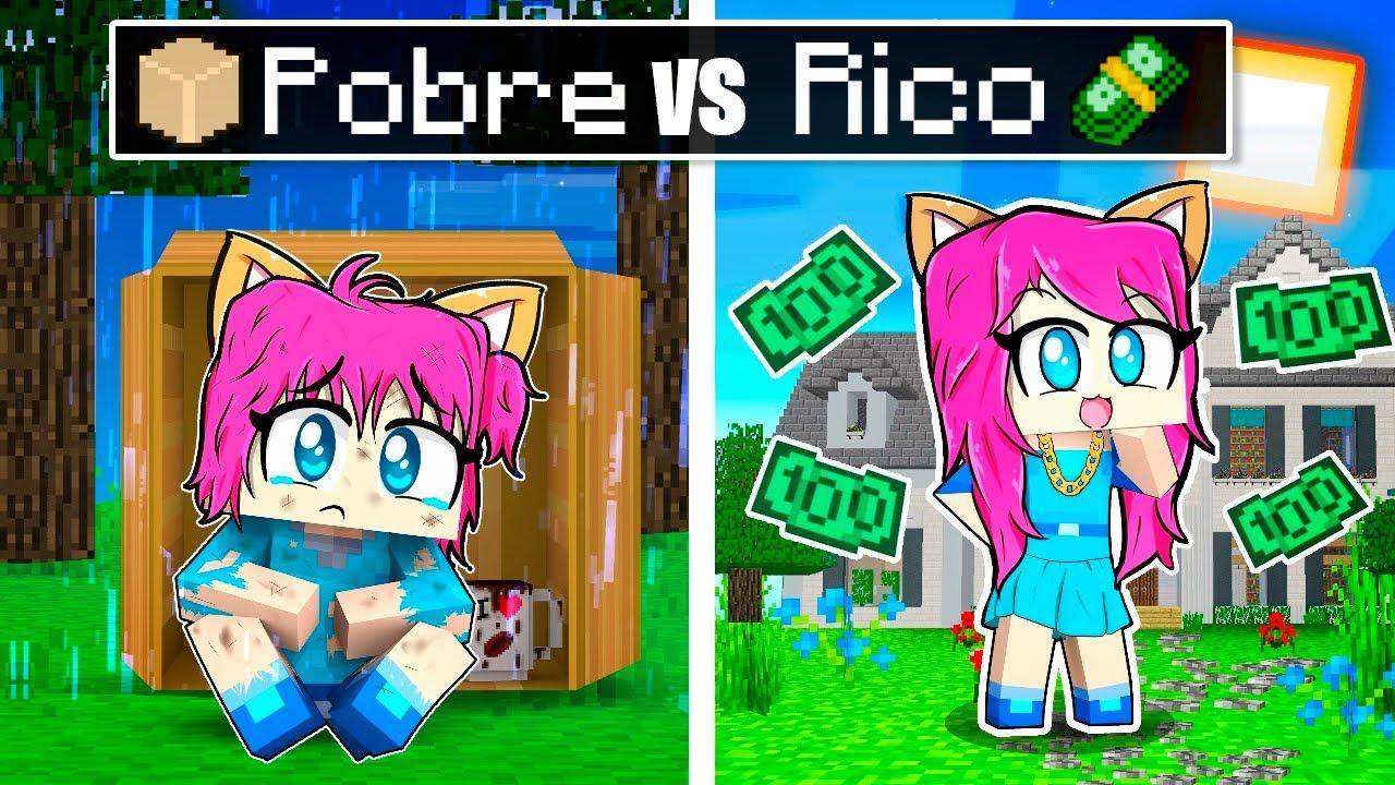 Miauzinha de POBRE a RICA no MINECRAFT!!