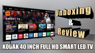 KODAK 40 INCH 102 CM SMART LED TV FULL HD UNBOXING amp REVIEW 2020
