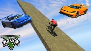 GTA V Online: BMX vs ENTITY XR - COM UMA MEGA RAMPA!!!