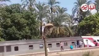حادث قطار المرازيق البدرشين اليوم