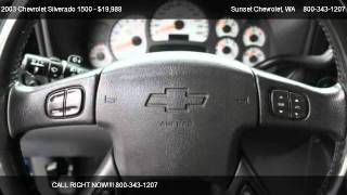 2003 Chevrolet Silverado 1500 1500 2WD 1SS - for sale in THE BEST OF THE BEST!!!, WA 98390
