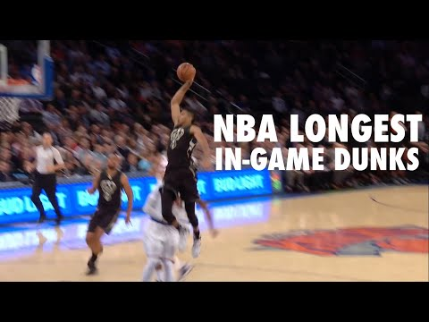 NBA Longest In-Game Dunks