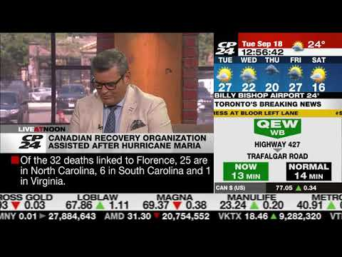 FFPC Interview with CP24 Hurricane Maria one year later
