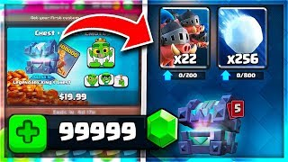 OMG! GEMMING *NEW* CARDS & EMOTES in Clash Royale!