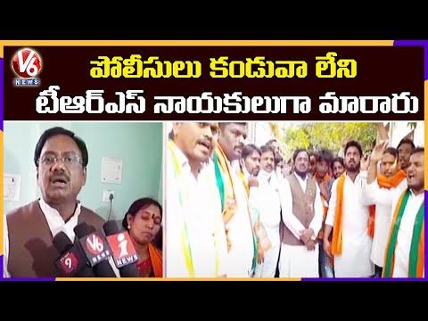 BJP Leader Vivek Venkataswamy Fires On Police Officials | Bellampalli | V6 News